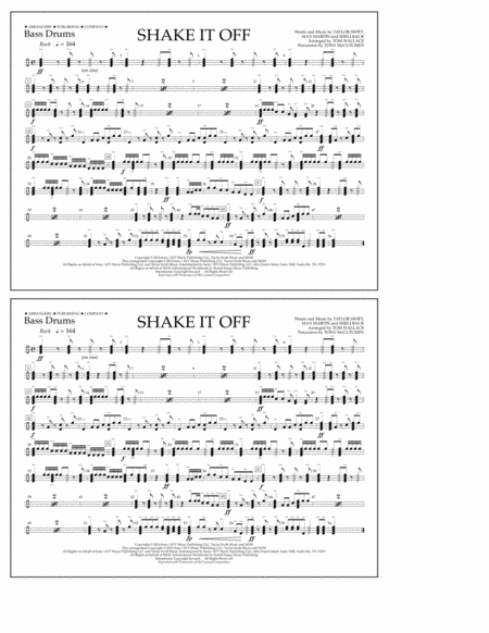 Shake It Off - Bass Drums