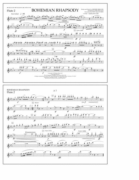 Piano bohemian rhapsody piano tabs : Download Bohemian Rhapsody - Flute 2 Sheet Music By Queen - Sheet ...