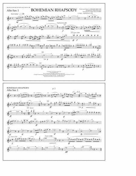 Bohemian Rhapsody - Alto Sax 1