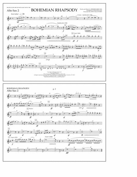 Bohemian Rhapsody - Alto Sax 2