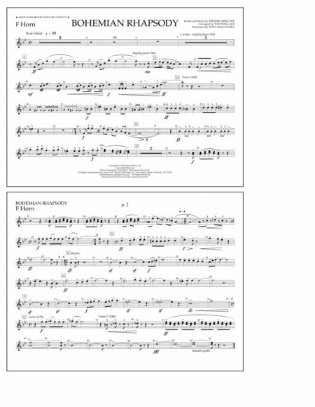 Bohemian Rhapsody - F Horn