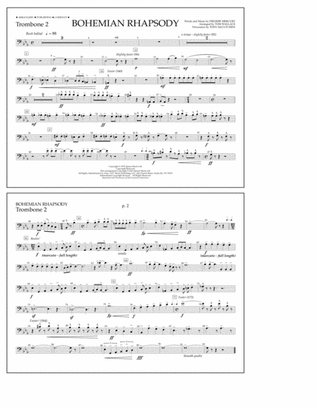 Bohemian Rhapsody - Trombone 2