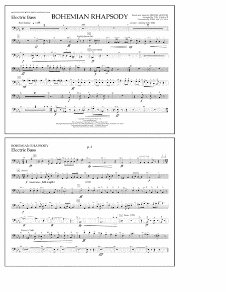 Bohemian Rhapsody - Electric Bass