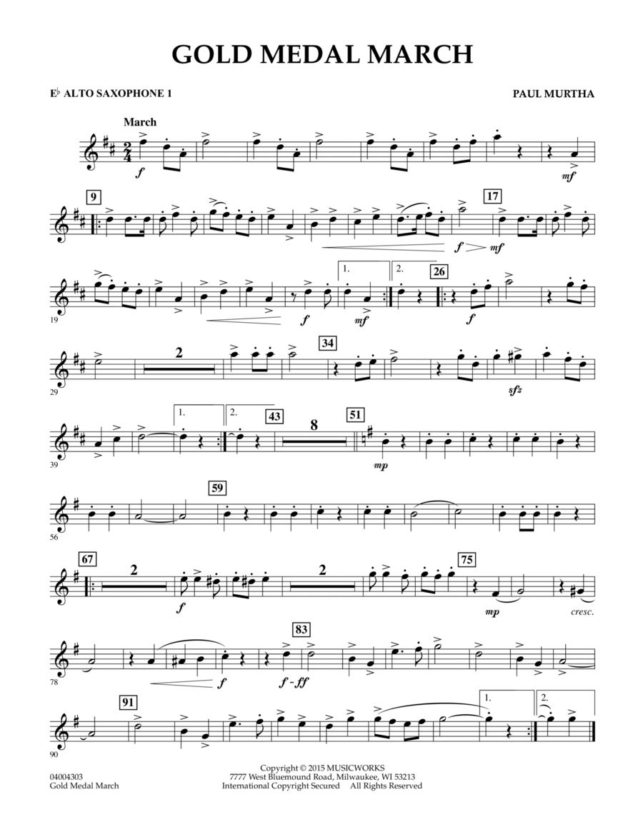 Gold Medal March - Eb Alto Saxophone 1