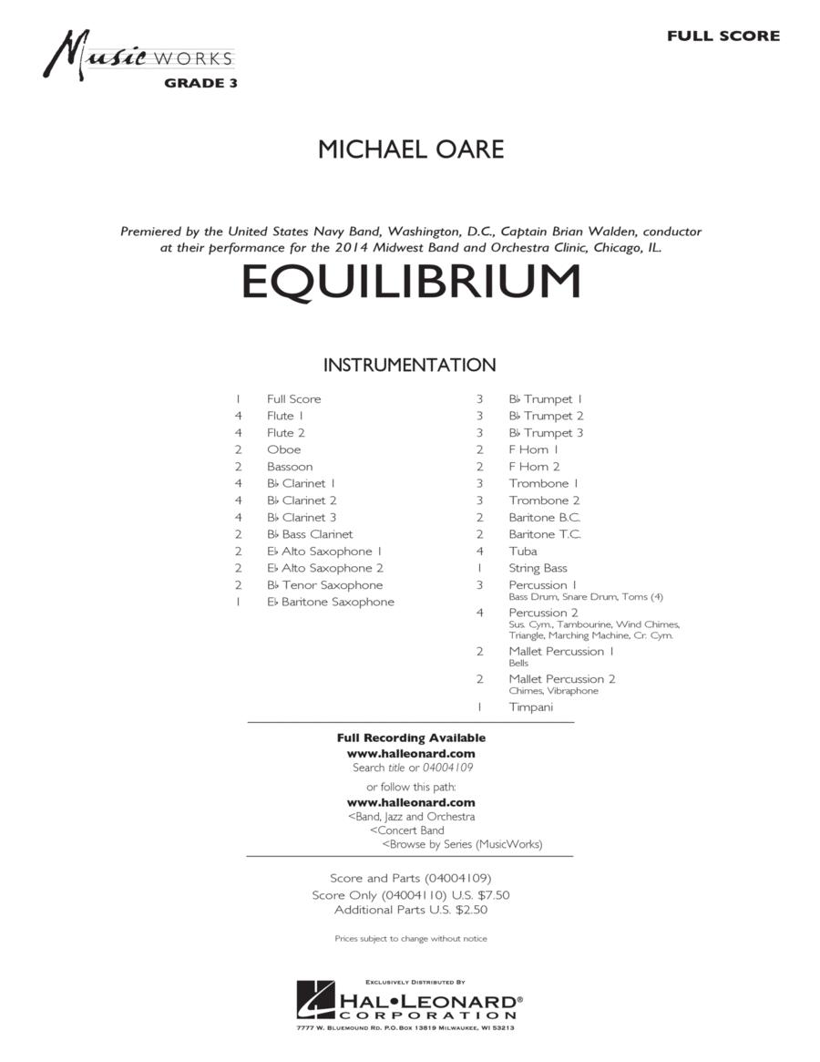 Equilibrium - Conductor Score (Full Score)
