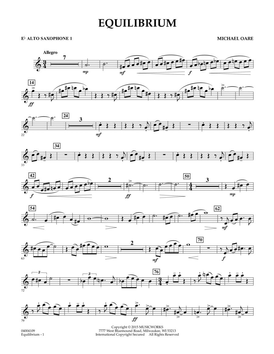 Equilibrium - Eb Alto Saxophone 1