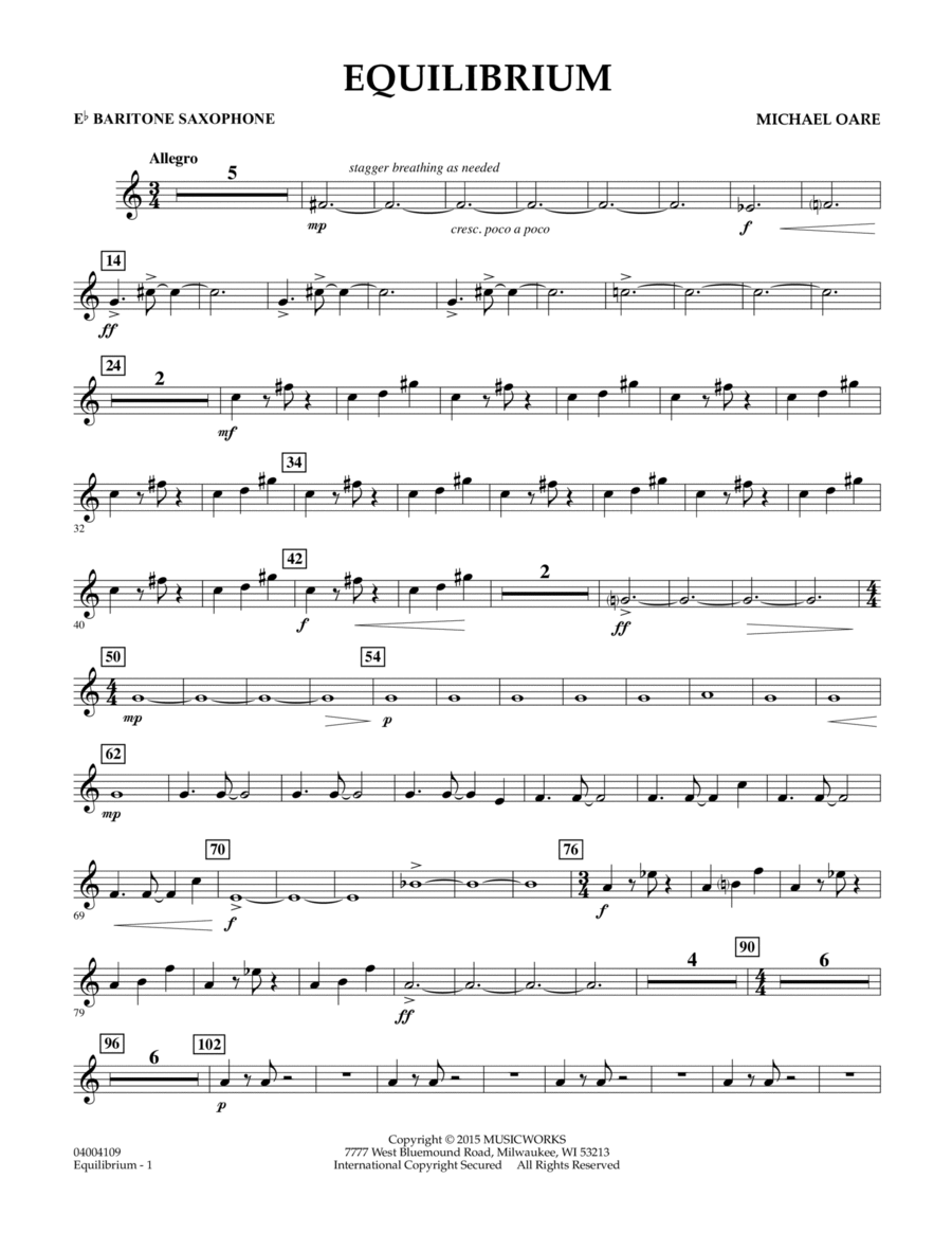 Equilibrium - Eb Baritone Saxophone