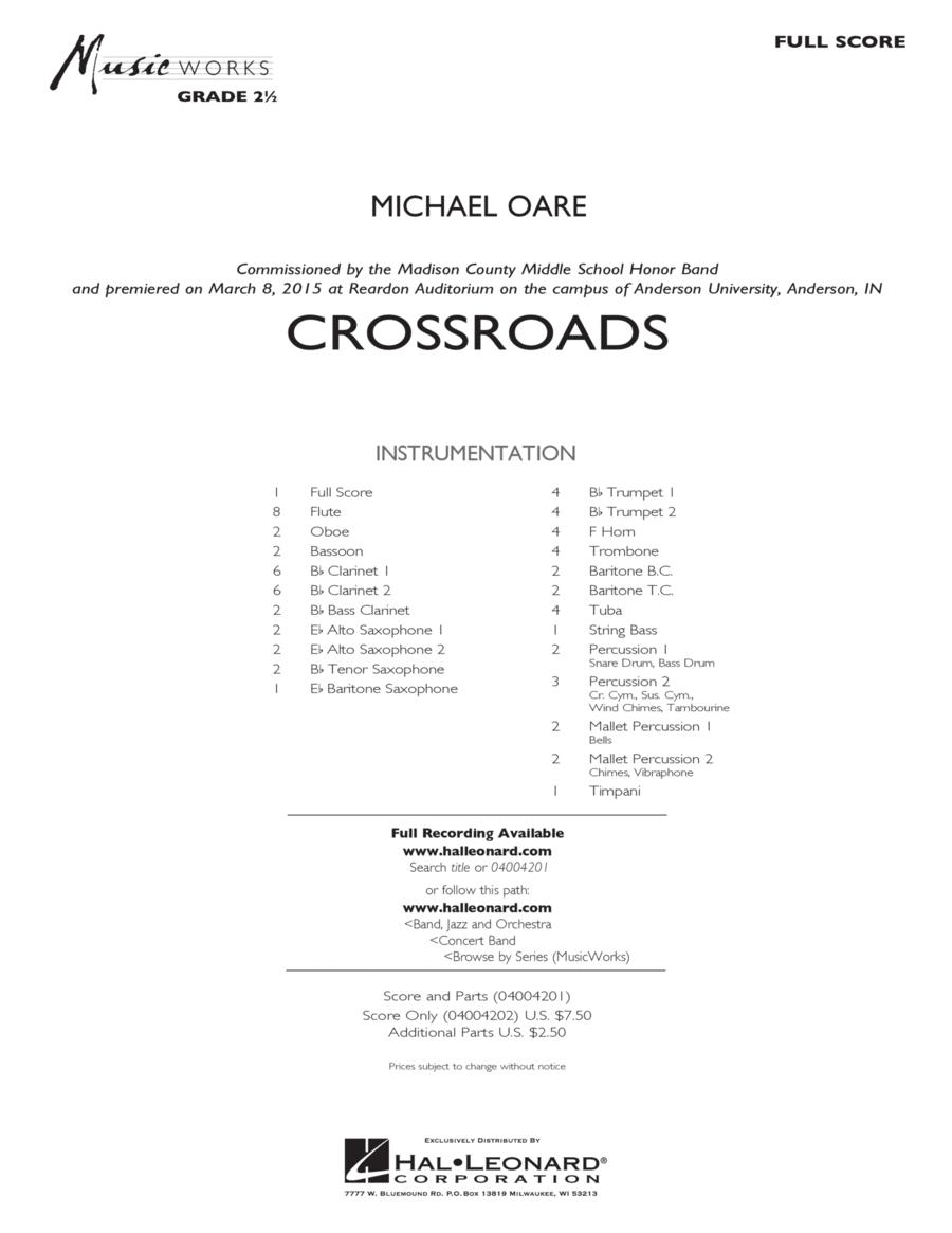 Crossroads - Conductor Score (Full Score)