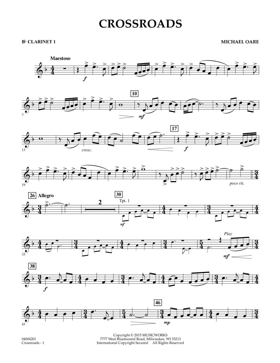 Crossroads - Bb Clarinet 1
