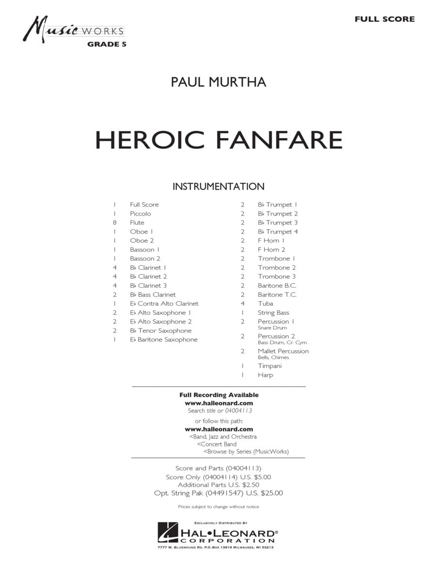 Heroic Fanfare - Conductor Score (Full Score)
