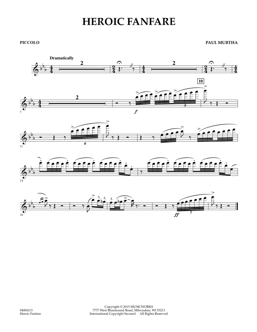 Heroic Fanfare - Piccolo