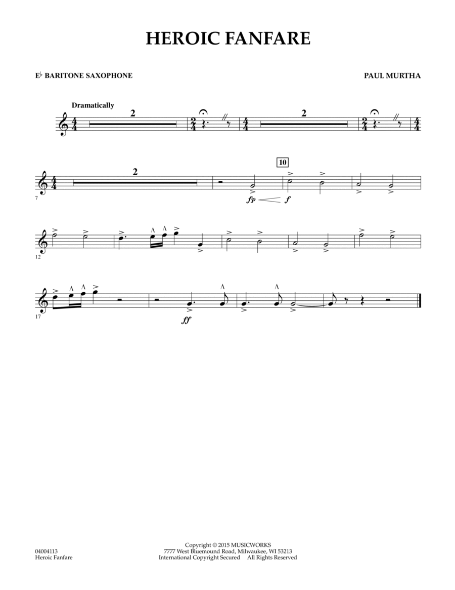 Heroic Fanfare - Eb Baritone Saxophone