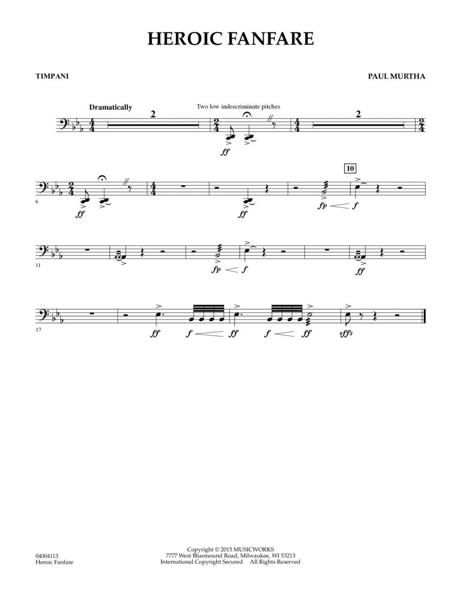 Heroic Fanfare - Timpani
