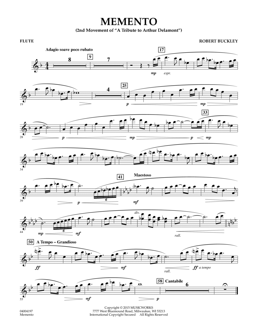 Memento - Flute