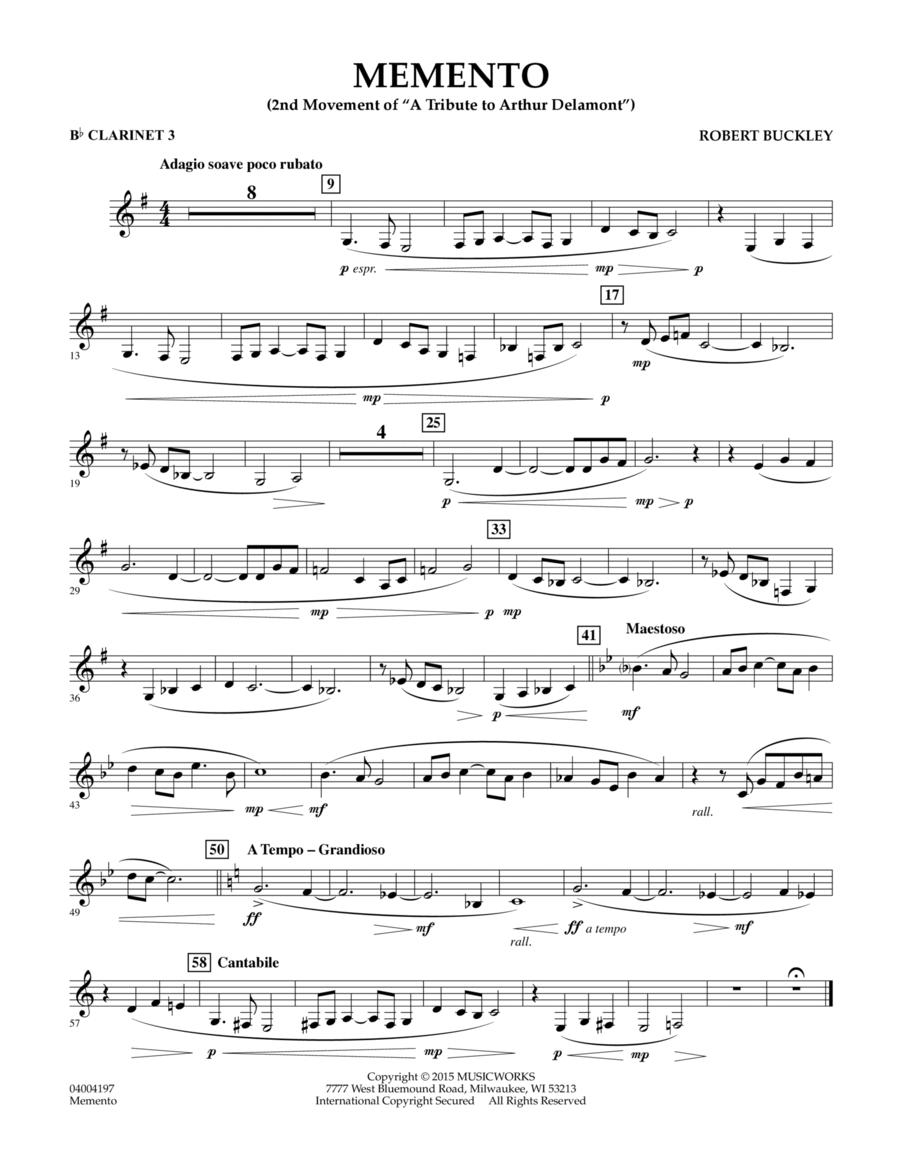 Memento - Bb Clarinet 3