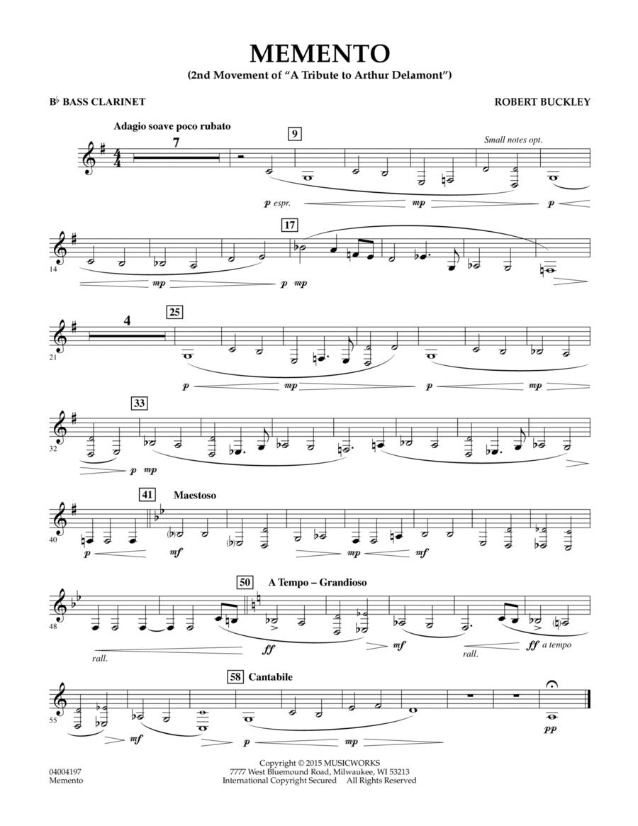 Memento - Bb Bass Clarinet