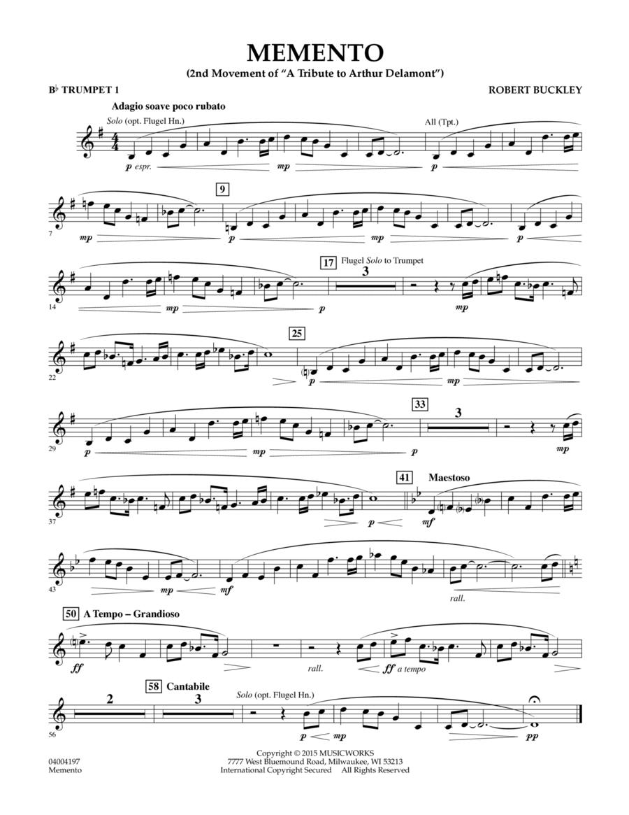 Memento - Bb Trumpet 1