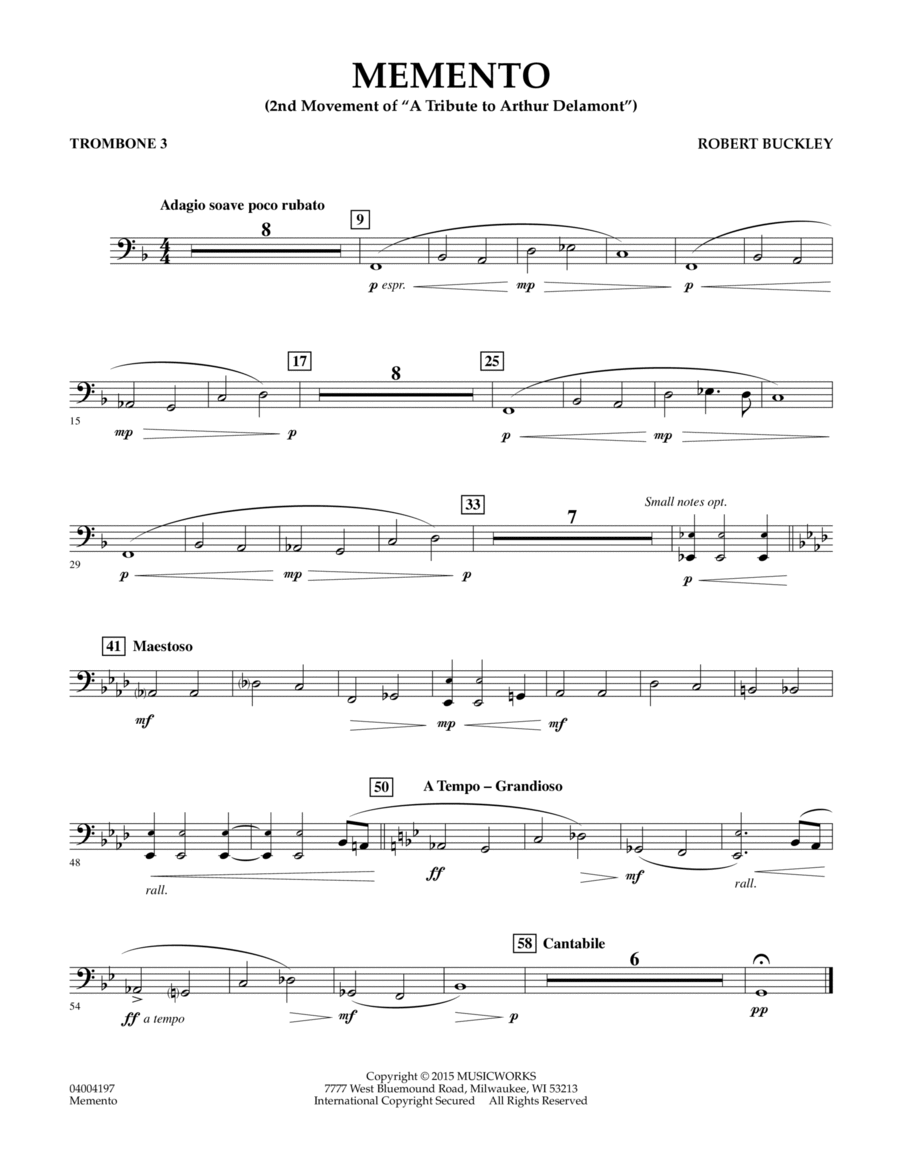 Memento - Trombone 3