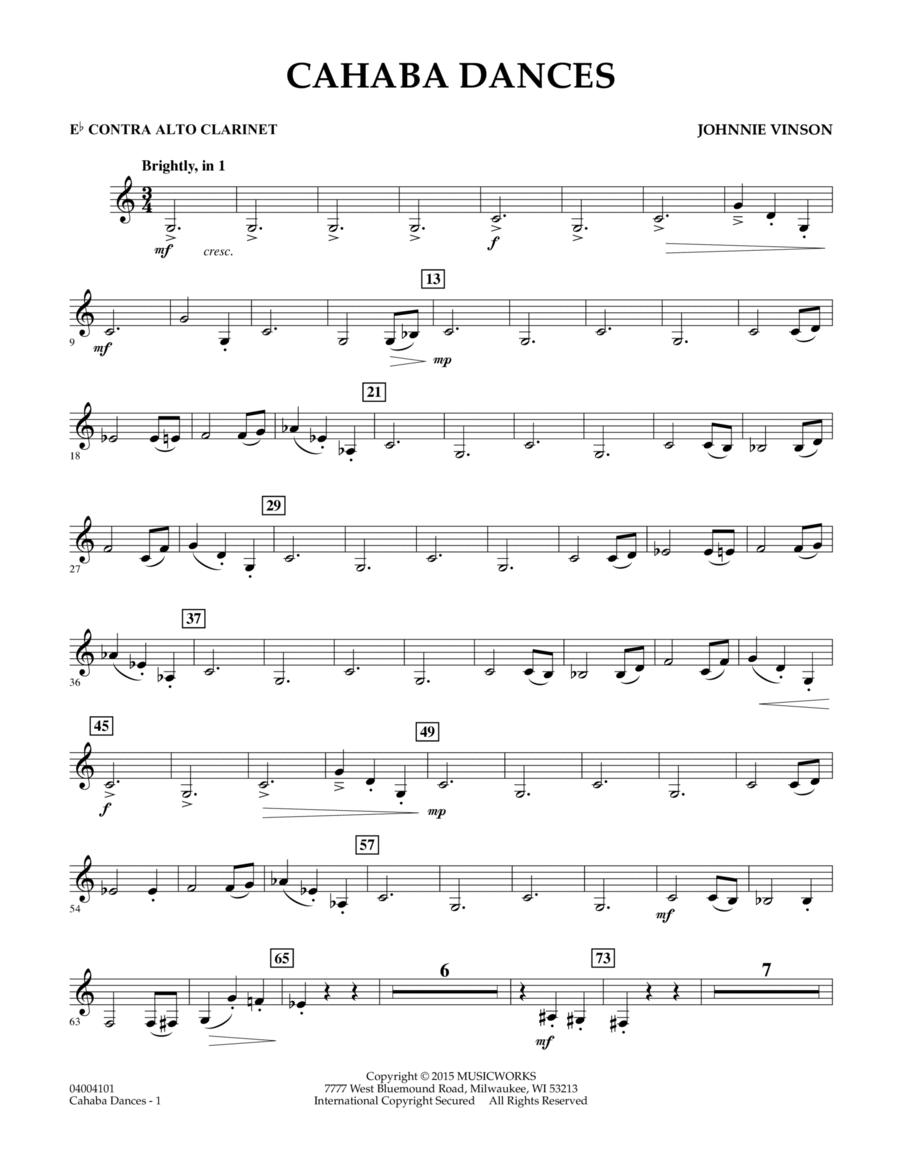 Cahaba Dances - Eb Contra Alto Clarinet
