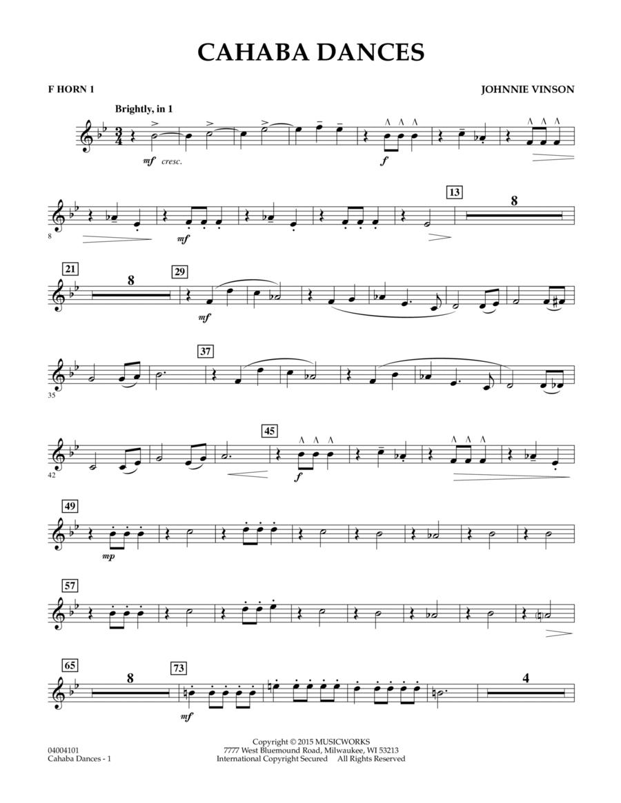 Cahaba Dances - F Horn 1