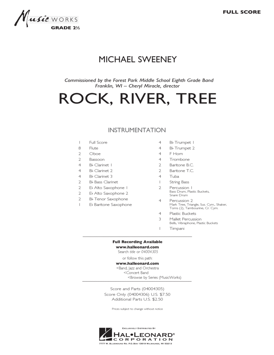 Rock, River, Tree - Full Score