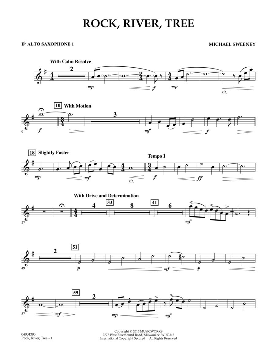 Rock, River, Tree - Eb Alto Saxophone 1