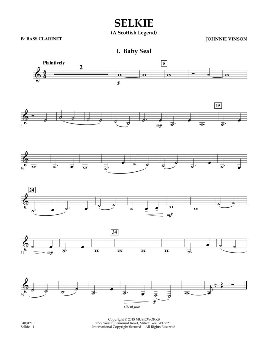 Selkie (A Scottish Legend) - Bb Bass Clarinet