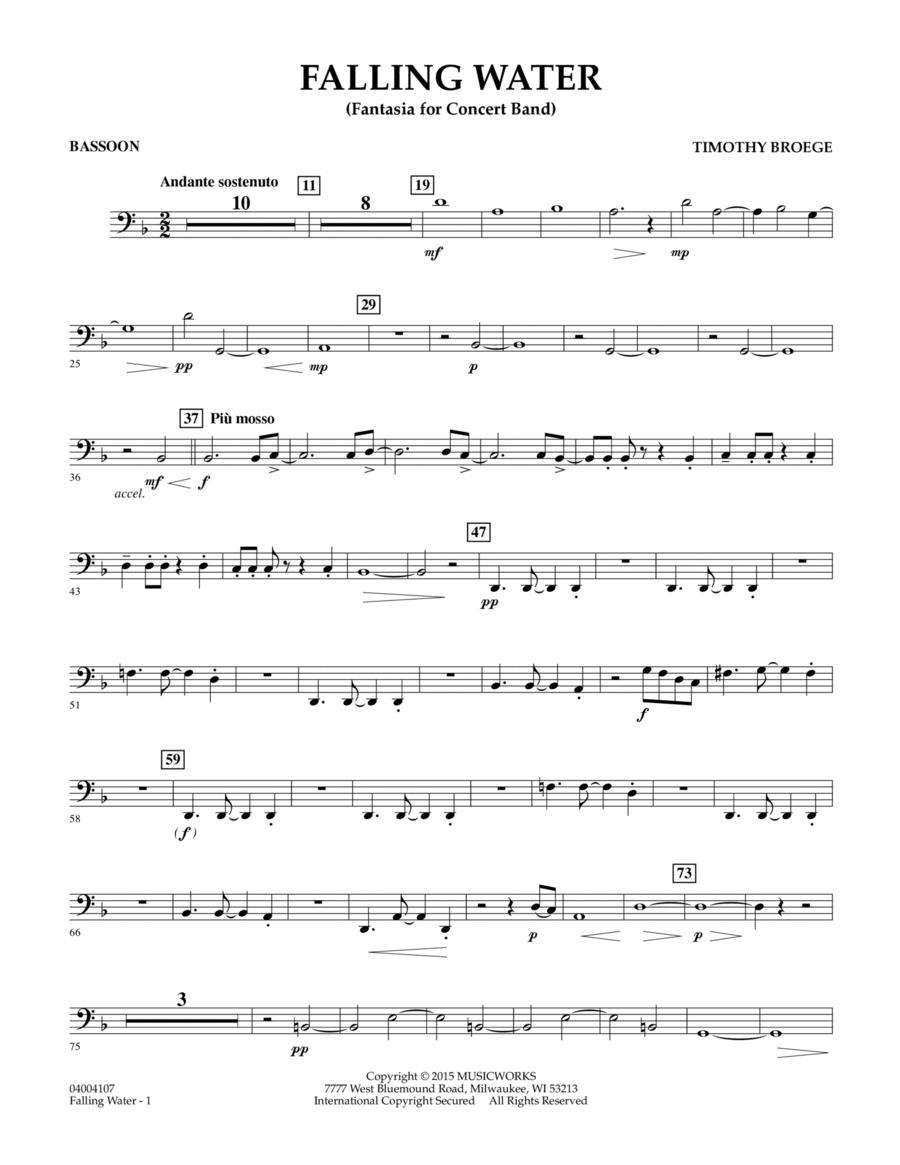 Falling Water - Bassoon