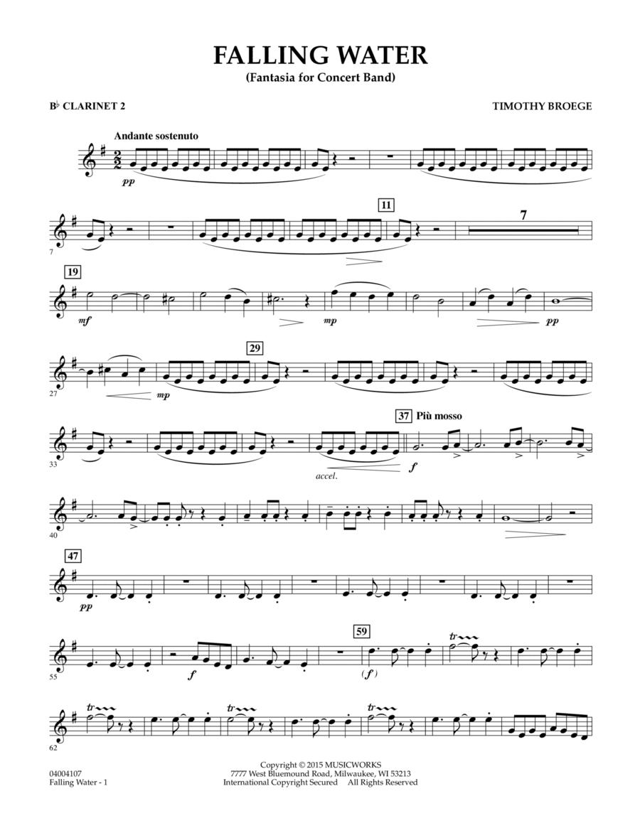 Falling Water - Bb Clarinet 2