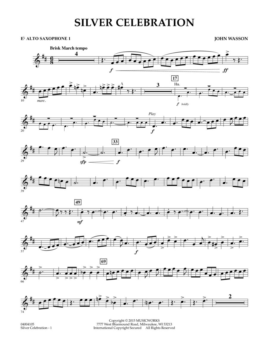 Silver Celebration - Eb Alto Saxophone 1