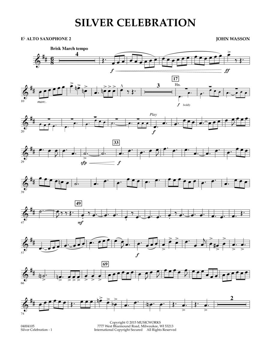 Silver Celebration - Eb Alto Saxophone 2