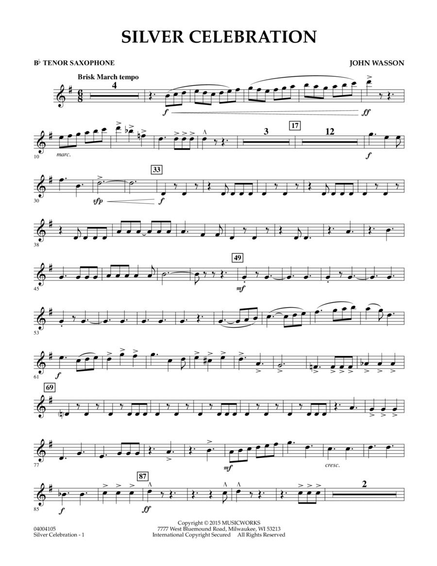 Silver Celebration - Bb Tenor Saxophone