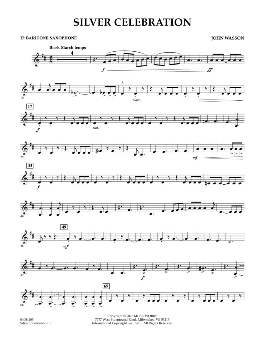 Silver Celebration - Eb Baritone Saxophone