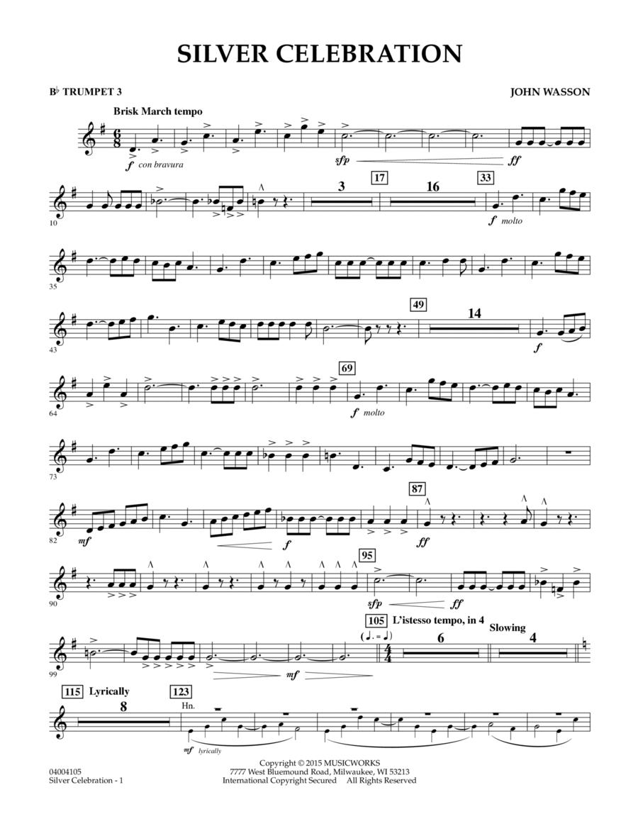 Silver Celebration - Bb Trumpet 3