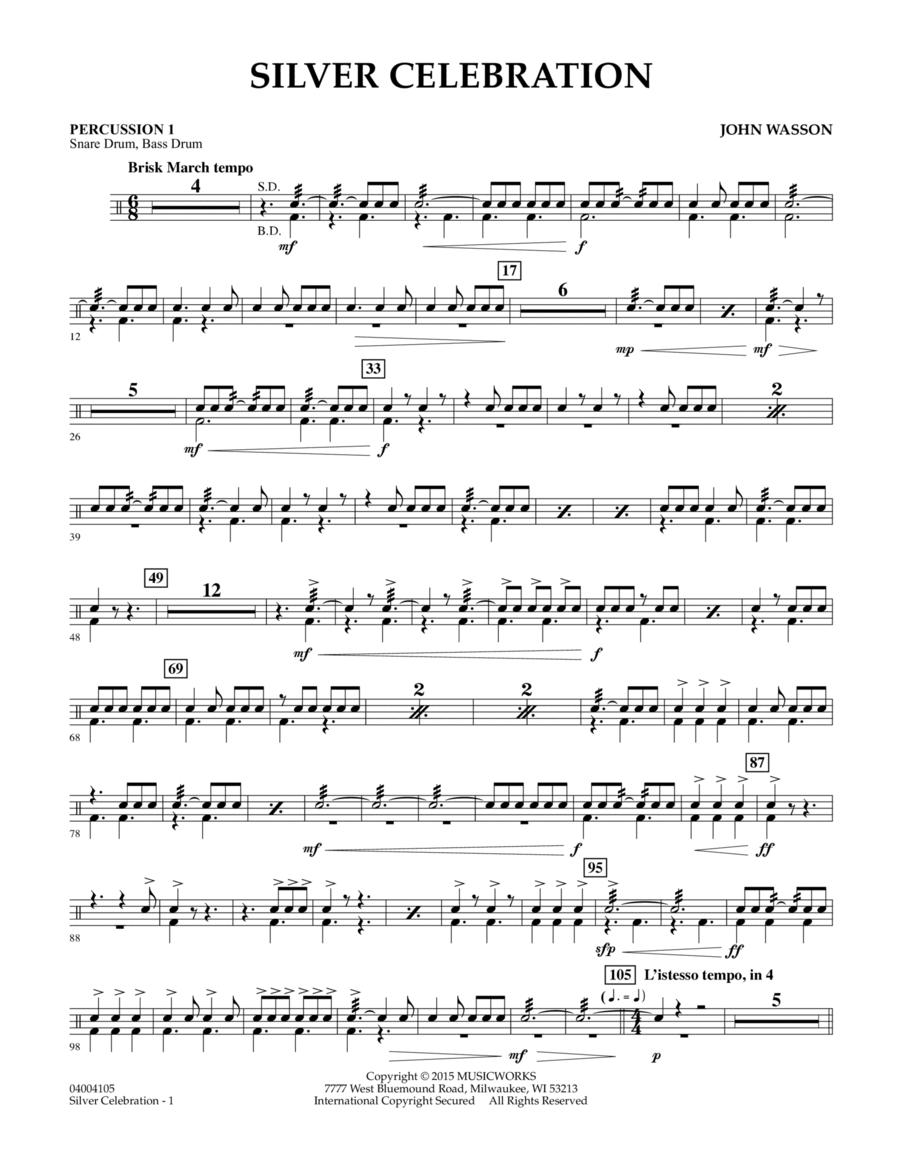 Silver Celebration - Percussion 1
