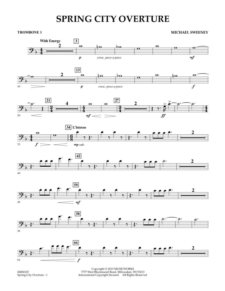 Spring City Overture - Trombone 1