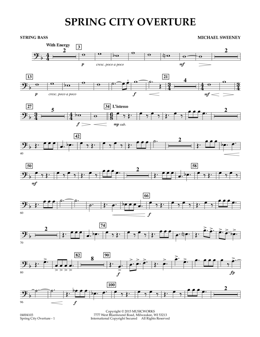 Spring City Overture - String Bass