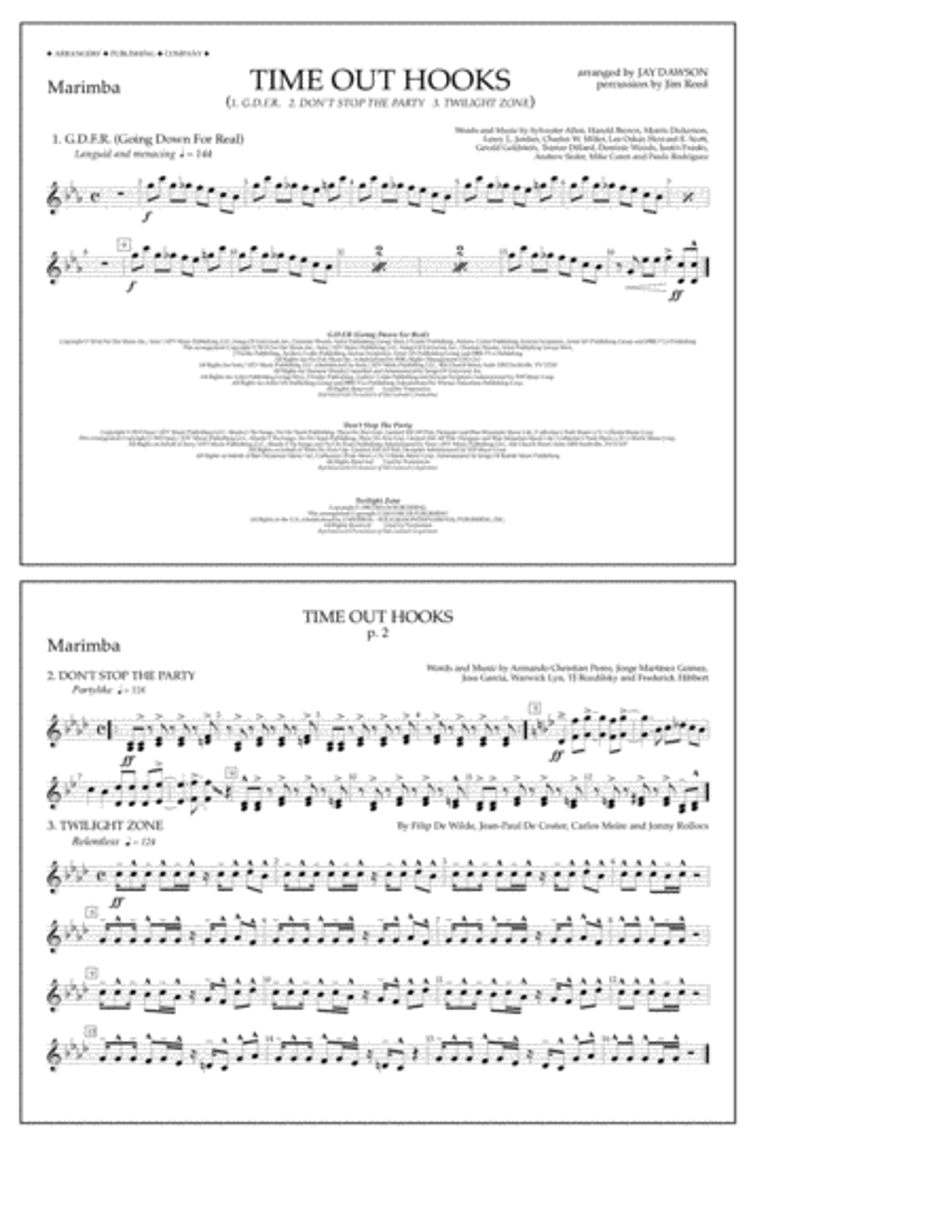 Time Out Hooks - Marimba