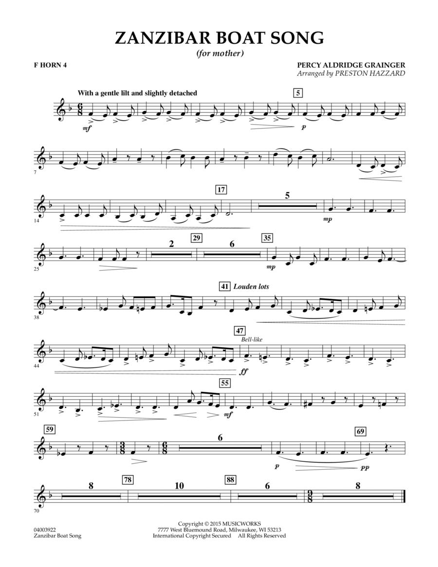 Zanzibar Boat Song - F Horn 4