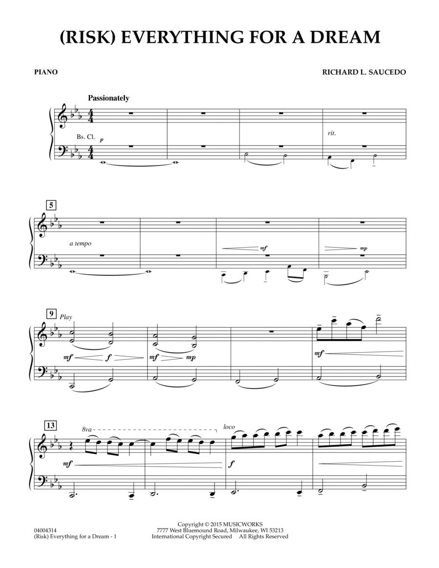 (Risk) Everything for a Dream - Piano