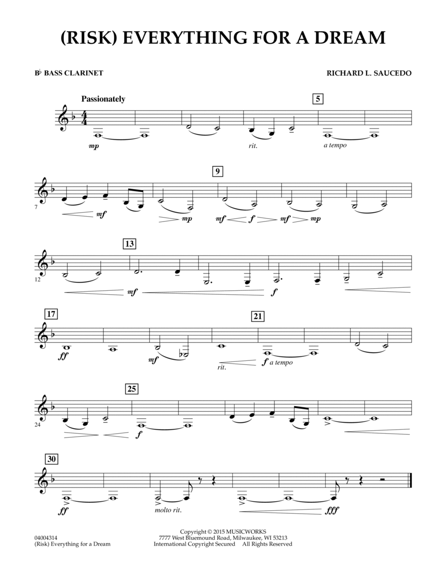 (Risk) Everything for a Dream - Bb Bass Clarinet