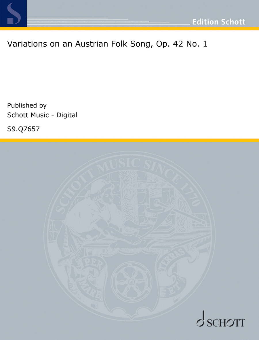 Variations on an Austrian Folk Song, Op. 42 No. 1