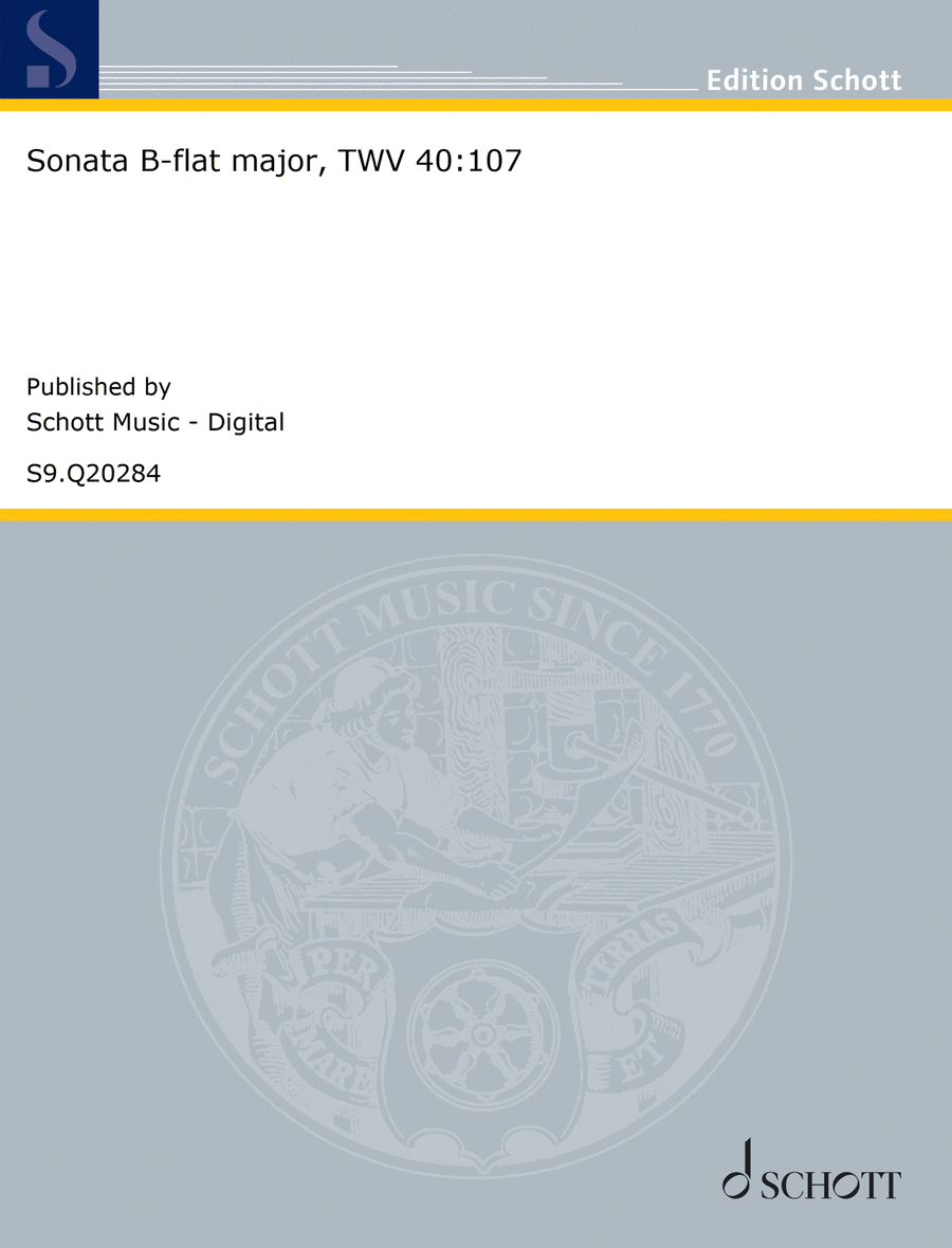 Sonata B-flat major, TWV 40:107