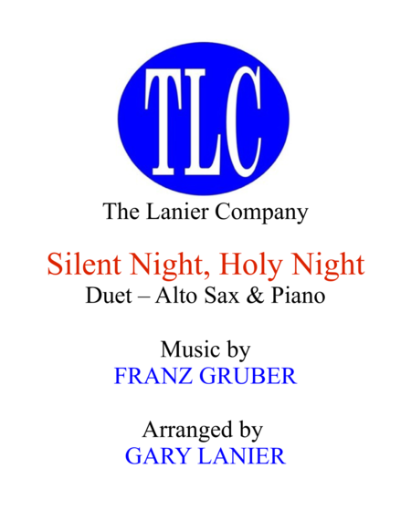 SILENT NIGHT (Duet – Alto Sax and Piano/Score and Parts)