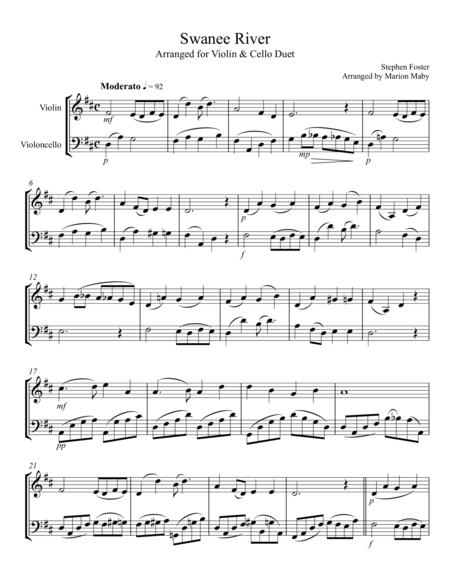 Swanee River violin & cello duet