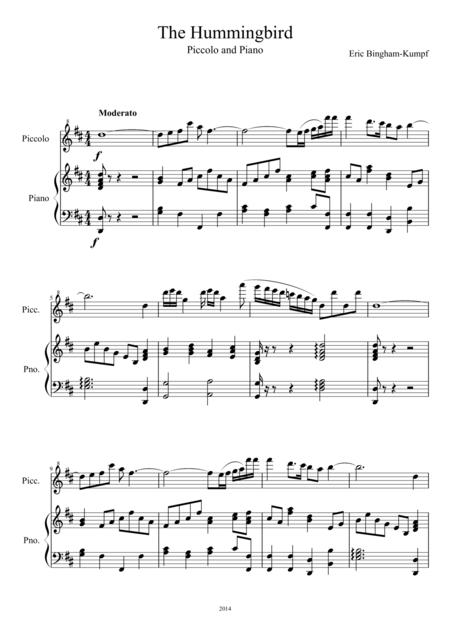 The Hummingbird (Piccolo and Piano)