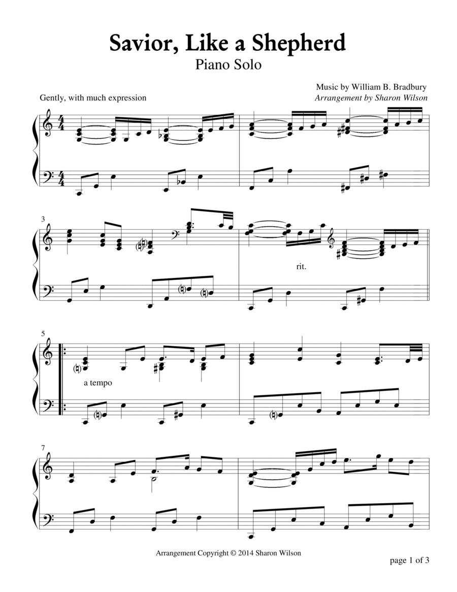 Savior, Like a Shepherd (Piano Solo)