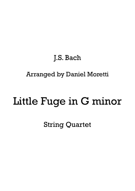 Little Fugue in G minor - String Quartet