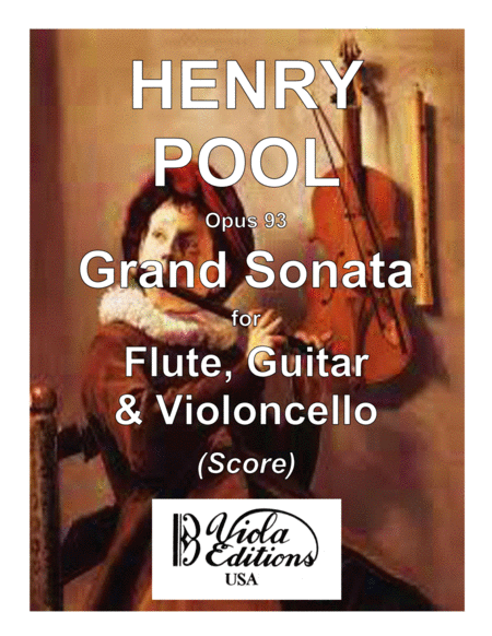 Grand Sonata for Flute Guitar & Cello (Score)
