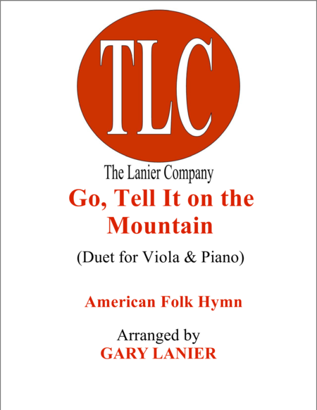 GO, TELL IT ON THE MOUNTAIN (Duet – Viola and Piano/Score and Parts)